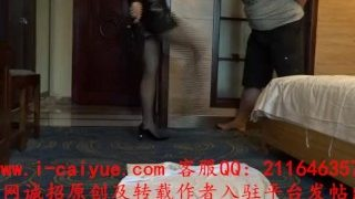 Chinese mistress foot slave foot worship ballbusting footjob 飘女王黑丝踢裆裸足足交爆射